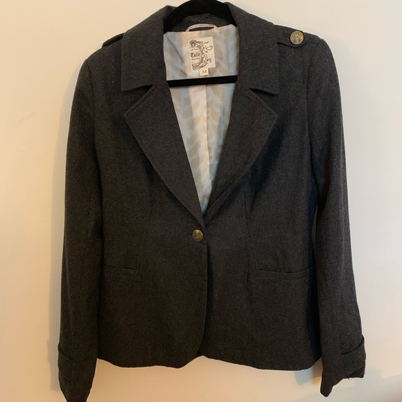 Tulle Jackets & Blazers - Anthropologie Tulle Grey Coat